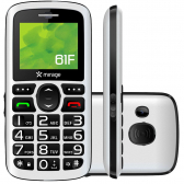 Celular Mirage 61F Dual Chip Tela 1.8´´ Camera Mp3 Radio Fm Bluetooth E Usb Branco 1101 Mkp000278002702