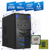 Computador Br-Pc Desktop Intel Celeron, 2Gb, Hd 160Gb, Dvd-Rw, Linux Mkp000245000002