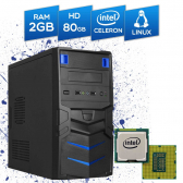 Computador Br-Pc Desktop Intel Celeron, 2Gb, Hd 80Gb, Dvd-Rw, Linux Mkp000245000003