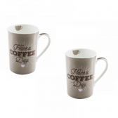 Duas Canecas de Porcelana Have A Coffee Day Chef Line - Mkp000386000788