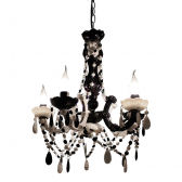 Lustre Black And White Exclusivo 40Cm Trevisan Concept - Mkp000196000453