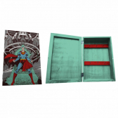 Porta Chave Artgeek Cporta Madeira Dc Superman Being Attacked 21 X 31 - Mkp000247002582