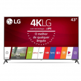 Tv 43'' Led Lg Uj6565 Ultra Hd 4K, Prata - Ultra Slim, Smart Tv, Wi-Fi, Webos 3.5, Magic Mobile Connection Mkp000315000511